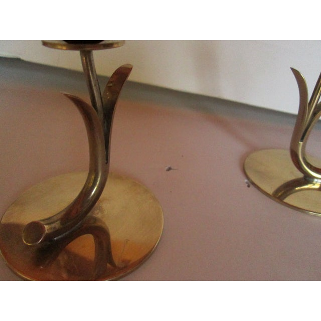 Ystad Metall Candleholders - A Pair For Sale In Los Angeles - Image 6 of 7
