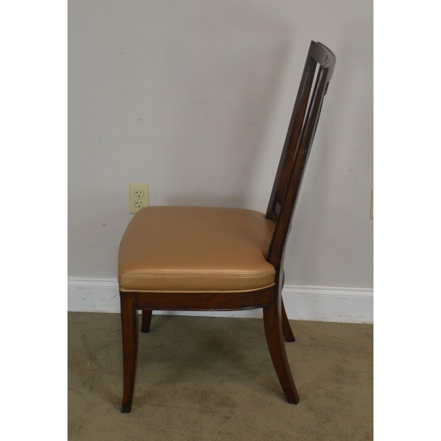 Wood Regency Classic Modern Style Set 6 Dining Chairs For Sale - Image 7 of 12