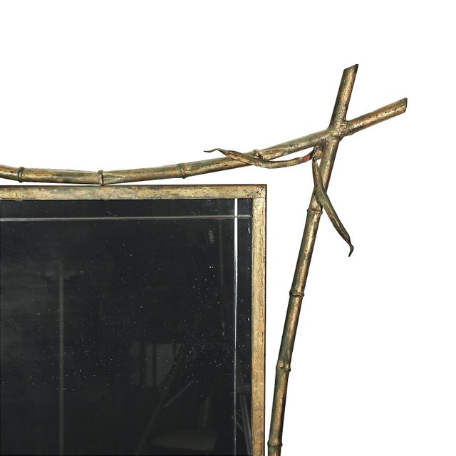 Green 1950s Console, Mirror, Magazine Rack Ensemble - Spain For Sale - Image 8 of 9
