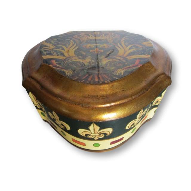 Vintage Enamel Koi Fleur De Lis Box - Image 3 of 10