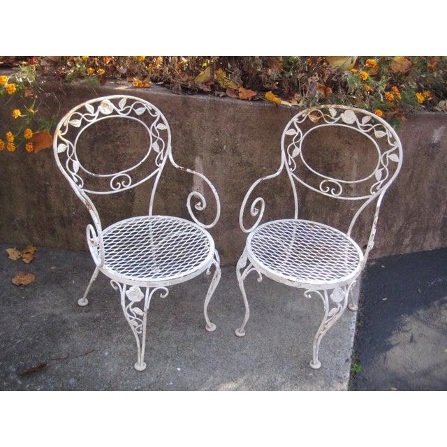 Vintage Woodard Iron Patio Chairs A Pair Chairish