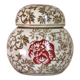 Hand Painted Imari Vase Japanese Ginger Jar For Sale