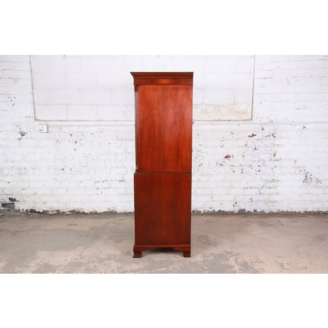 Baker Furniture Chippendale Carved Mahogany Armoire Dresser For Sale - Image 10 of 13