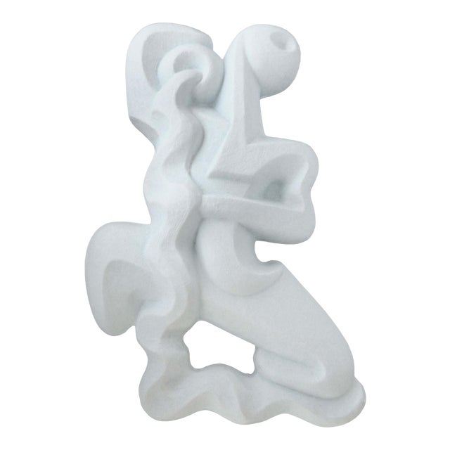 Mid-Century Modern Frederick Weinberg Back-Lit Wall Sculpture of a Water Bearer For Sale