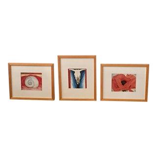 Georgia O'Keefe Framed Prints - Set of 3 For Sale