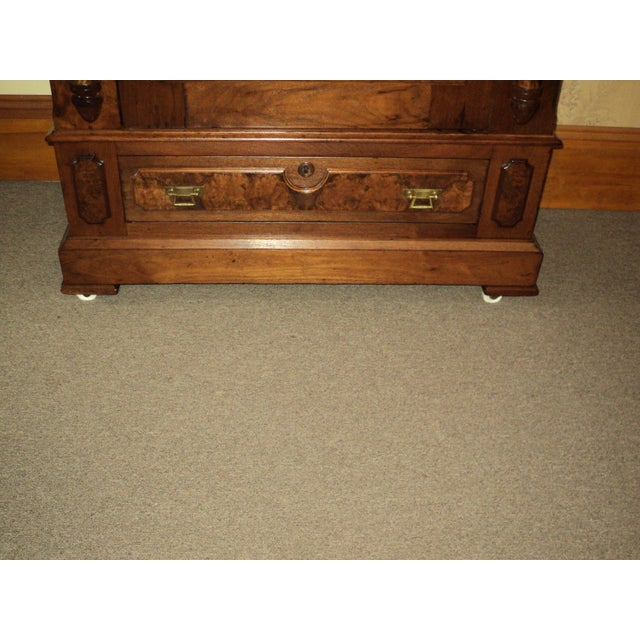Antique Walnut Eastlake Victorian Armoire - Image 5 of 8