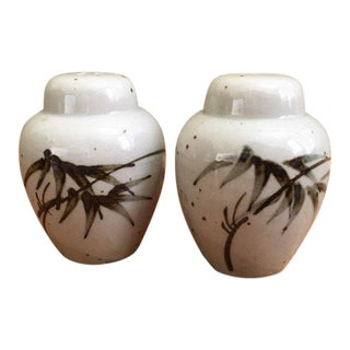 1970s Vintage Japanese Salt & Pepper Shakers - a Pair For Sale
