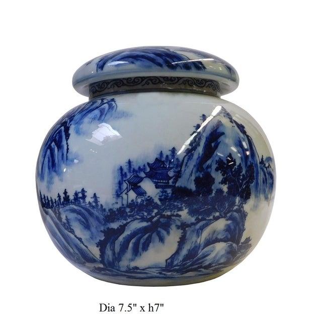 Chinese Blue & White Porcelain Scenery Bowl - Image 6 of 6