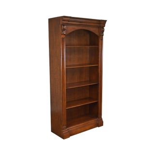 Lexington Nautica Collection Cherry Tall Open Bookcase For Sale