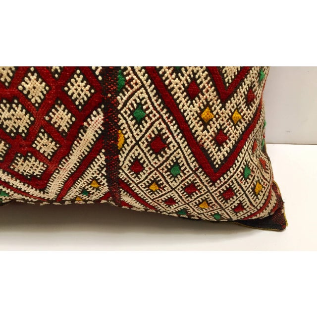 Black Moroccan Berber Pillow With Tribal African Designs For Sale - Image 8 of 10