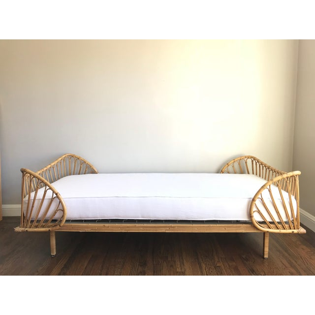 Vintage French Bamboo Rattan Daybed Chairish