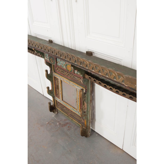 Glass Austrian Early 19th Century Hand-Painted Pine Wall Mounted Coat Rack For Sale - Image 7 of 13