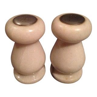 Alabaster Salt & Pepper Shakers - A Pair