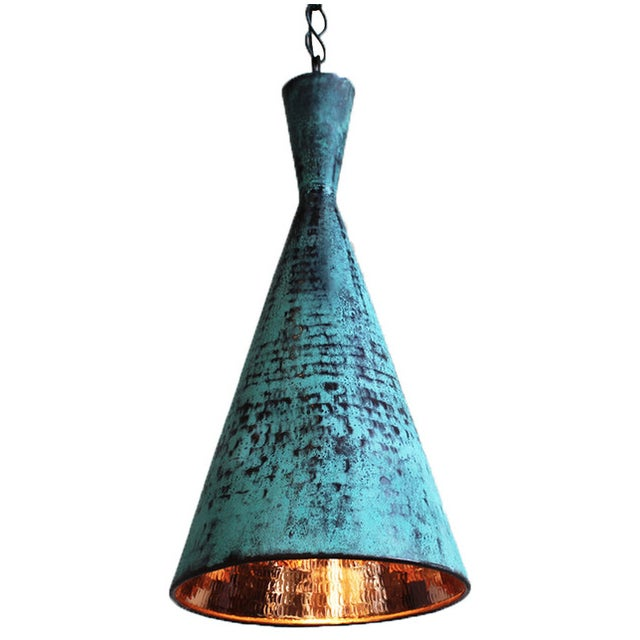 Hand Hammered Copper Corong Light - Image 1 of 2
