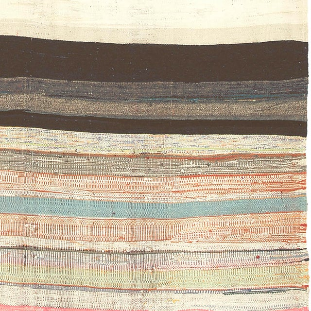 """Mid 20th Century Mid 20th Century Moroccan Rag Rug -5'7"""" X 10'11"""" For Sale - Image 5 of 6"""
