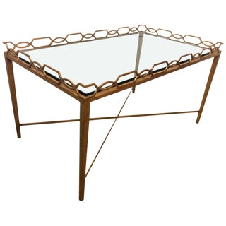 1970s Italian Gold-Leaf Coffee Table For Sale