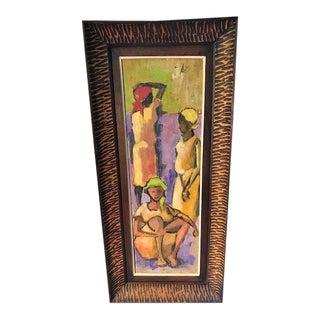 """""""Gift Fair Haiti"""" Painting by Haitian Artist Dieudonne Cedor For Sale"""