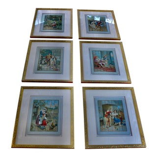 Antique Framed Puzzles - Set of 6 For Sale