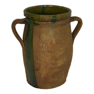 19th-Century French Stoneware Pot For Sale