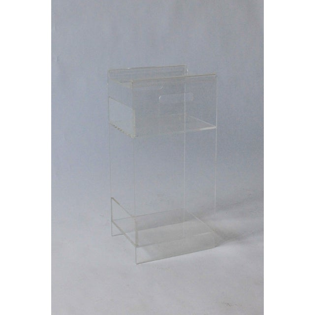 Vintage Lucite Side Table / Plant Stand - Image 4 of 4