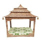 Image of Wicker Pagoda Dog Bed For Sale