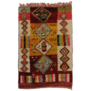 20th Century Boho Chic Berber Moroccan Rug - 5'3 X 7'7 For Sale