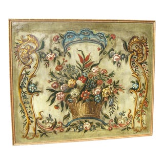 French Decorative Oil Painting of Flowers For Sale