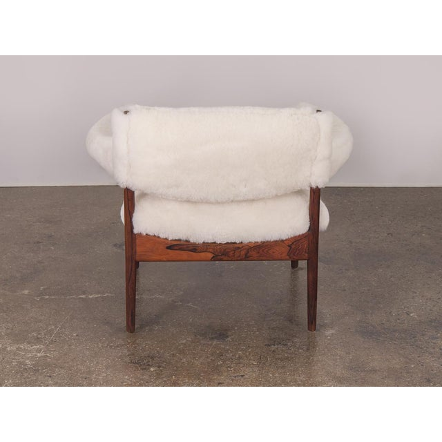 Metal Kristian Vedel Sheepskin Modus Lounge Chairs - a Pair For Sale - Image 7 of 13