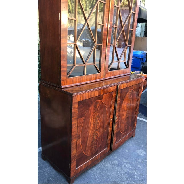 Early 19c Antique English Regency Mahogany Secretary Bookcase For Sale In Los Angeles - Image 6 of 12
