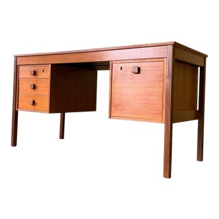 Mid Century Modern Danish Teak Desk by Domino Mobler For Sale