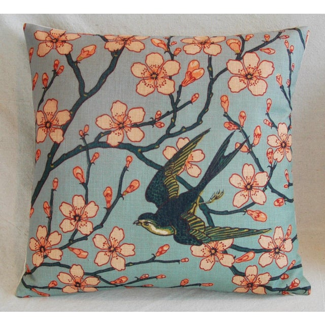 Magnolia Blossoms/Swallow Down & Feather Pillows - a Pair For Sale - Image 4 of 12