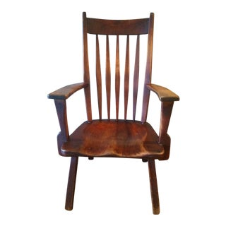 1930's Danish Modern Herman DeVries by Cushman Salem Wood Chair For Sale
