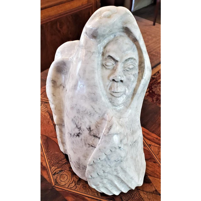 """White Gilbert Hay's """"The Partridge Haunt"""" Inuit Art, 1991 For Sale - Image 8 of 13"""