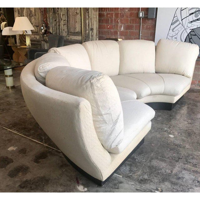 Willy Rizzo Large Curved Sectional Sofa, Italy, 1960