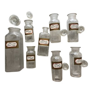 1880s Apothecary Bottles - Set of 8 For Sale