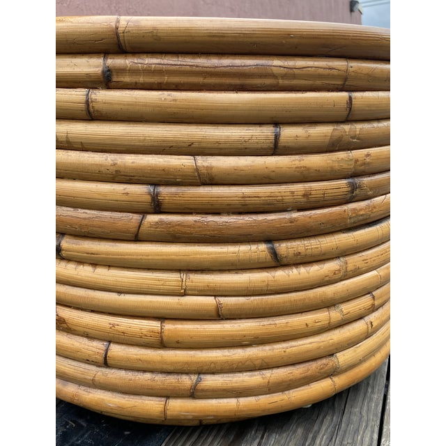 Contemporary Pretzel Rattan Drinks Table For Sale - Image 3 of 6