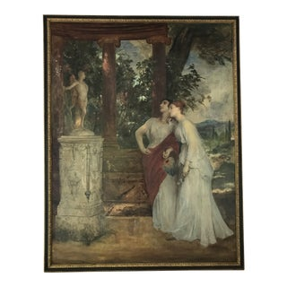 Large Original French Framed Oil Painting of Woman Circa 1830 For Sale