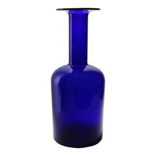 Mid-Century Holmegaard Cobalt Blue Gulvvase