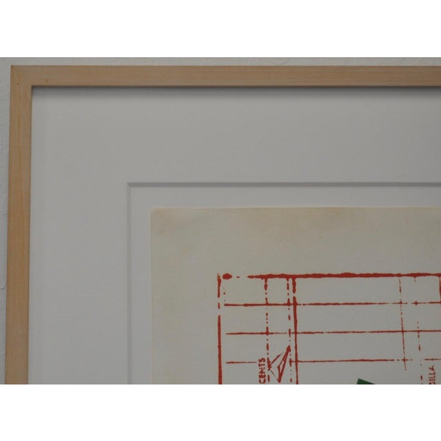 """Circa 1971 """"Coca Cola"""" Signed Color Lithograph By Jasper Johns For Sale - Image 9 of 9"""
