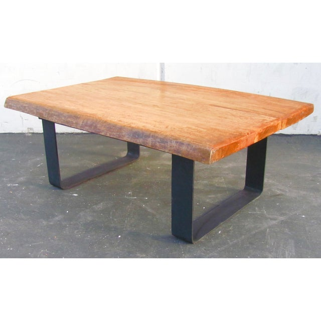 Minimalist Natural Wood Slab Coffee Table For Sale In Los Angeles - Image 6 of 6