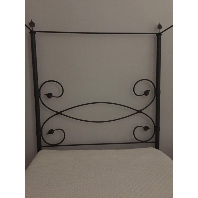 Iron Leaf-Style Canopy Queen Bed - Image 3 of 5