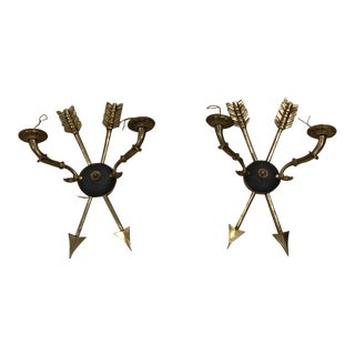 Mid-Century French Arrow Sconces - a Pair For Sale