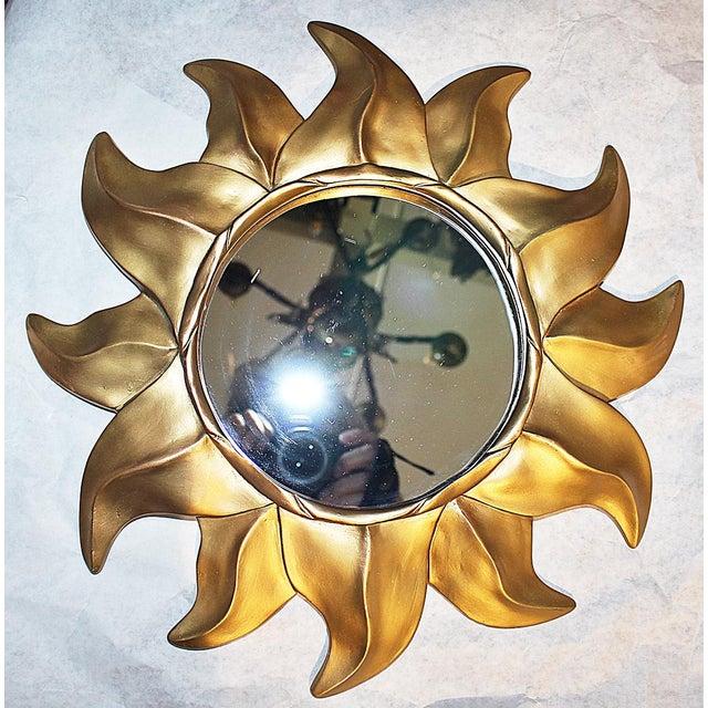 Gold Sunflower Framed Round Mirror - Image 2 of 5