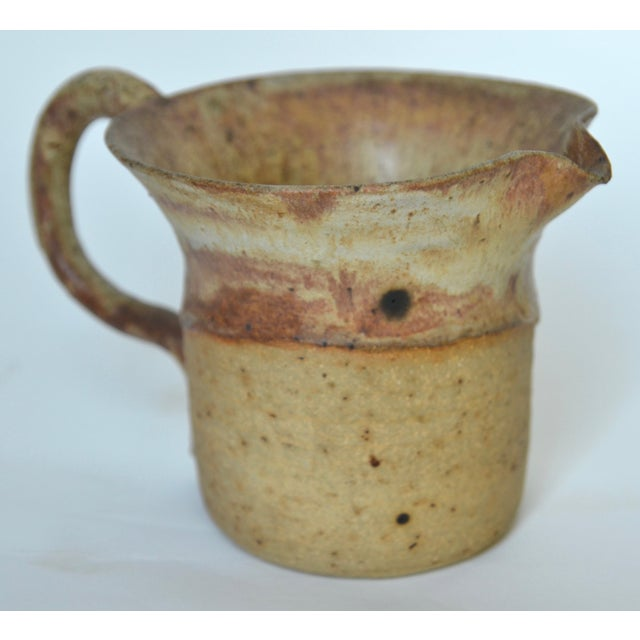 Ceramic Mid Century Studio Pottery Pitcher 1974 For Sale - Image 7 of 7