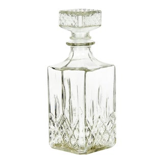 1960s Square Glass Decanter For Sale