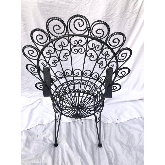 Vintage Wrought Iron Patio Chairs For Sale In New Orleans - Image 6 of 8