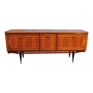 French Art Deco Macassar Ebony Sideboard Credenza For Sale