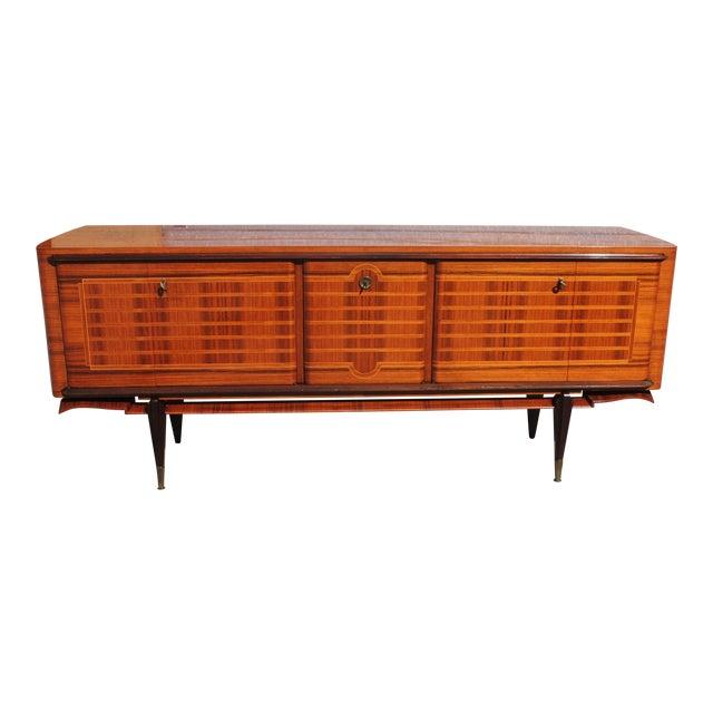 French Art Deco Macassar Ebony Sideboard Credenza For Sale