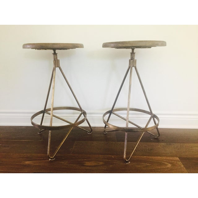 Arteriors Home Wyndham Natural Wax Barstool - Set of 2 - Image 2 of 5