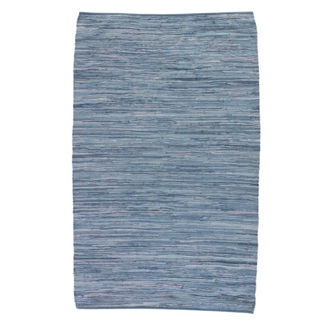 Jaipur Living Raggedy Handmade Solid Blue Area Rug - 4' X 6' For Sale In Atlanta - Image 6 of 6